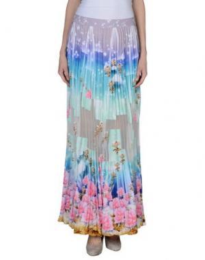 Длинная юбка MANISH ARORA. Цвет: светло-зеленый