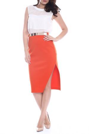 Юбка Moda di Chiara. Цвет: оранжевый