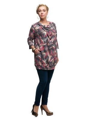 Блуза OLSI. Цвет: розовый, серый