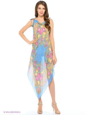 Туника текстильная Vittorio Richi. Цвет: голубой, желтый