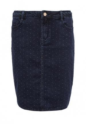 Юбка джинсовая Cortefiel. Цвет: синий
