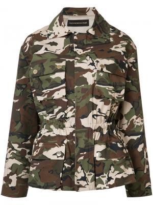 Куртка с камуфляжным узором Alexandre Vauthier. Цвет: зелёный