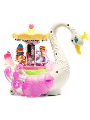 Игрушка карусель с музыкально звуковым эффектом 1шт HUILE. Цвет: розовый