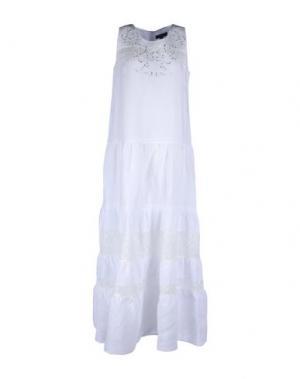 Длинное платье CHIARA D'ESTE. Цвет: белый