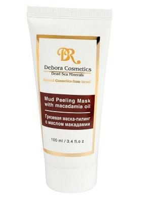 Грзева маска-пилинг с маслом макадамии Debora Cosmetics. Цвет: бежевый