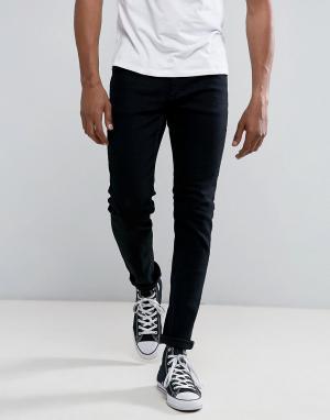 Rollas Черные узкие джинсы Thin Captain. Цвет: черный