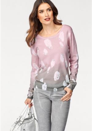Пуловер Laura Scott. Цвет: розовый/серый
