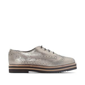 Ботинки-дерби из блестящей кожи Avo COOLWAY. Цвет: золотистый,серебристый