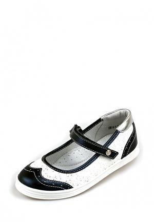 Туфли Elegami. Цвет: черно-белый