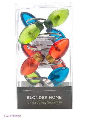 12 крючков для душевой шторки Blonder Home. Цвет: белый