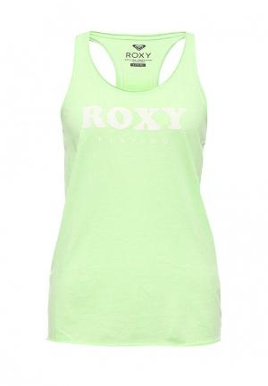 Майка Roxy. Цвет: зеленый