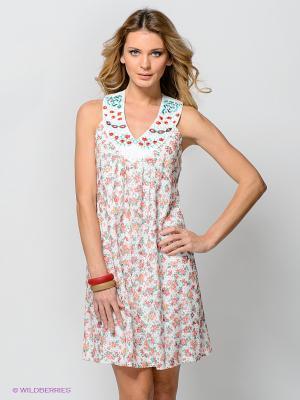 Платье TOPSANDTOPS. Цвет: белый, зеленый, коралловый