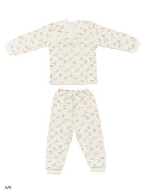 Пижамы KIDONLY. Цвет: белый, розовый