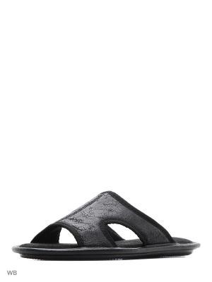 Тапочки мужские из текстильных материалов. BRIS. Цвет: черный