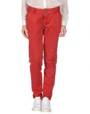 Повседневные брюки TIMEOUT. Цвет: красный