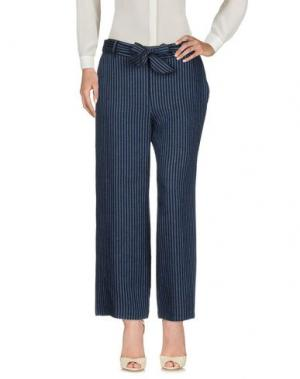 Повседневные брюки FABRIZIO LENZI. Цвет: грифельно-синий
