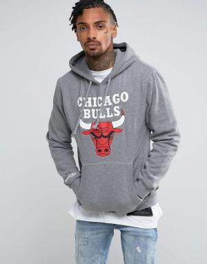 Mitchell & Ness Худи NBA Chicago Bulls. Цвет: серый