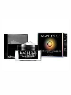 Разглаживающий крем для области вокруг глаз и губ Sea of Spa. Цвет: черный