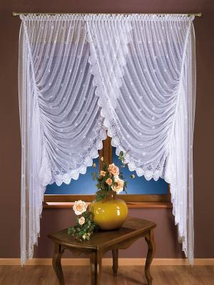 Комплект штор Рафаэлла Wisan. Цвет: белый