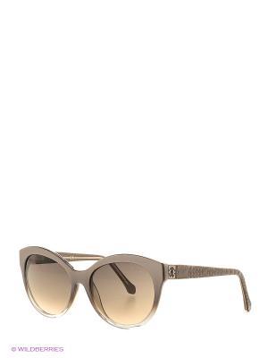 Солнцезащитные очки RC 798S 20В Roberto Cavalli. Цвет: бежевый