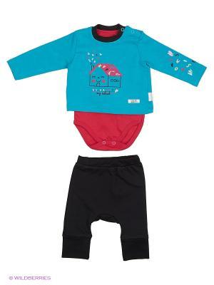 Костюм для малышей WO&GO. Цвет: бирюзовый, фуксия, черный