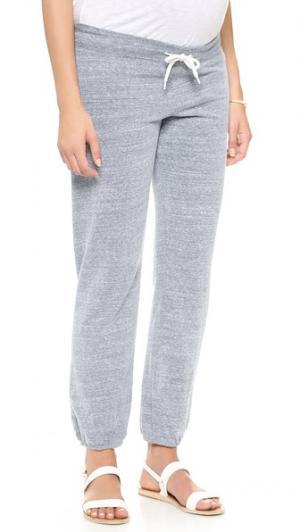 Винтажные спортивные брюки для беременных MONROW. Цвет: темный меланж