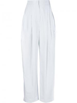 Плиссированные брюки Vika Gazinskaya. Цвет: синий