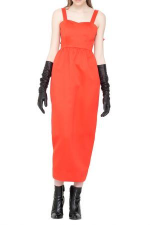 Платье Cyrille Gassiline. Цвет: оранжевый