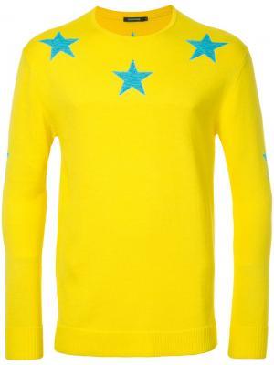 Свитер со звездами Guild Prime. Цвет: жёлтый и оранжевый