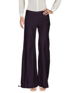 Повседневные брюки NOLITA. Цвет: баклажанный