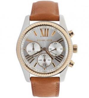 Часы круглой формы с хронографом Michael Kors