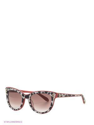 Солнцезащитные очки MO 723S 06 MOSCHINO. Цвет: черный, красный