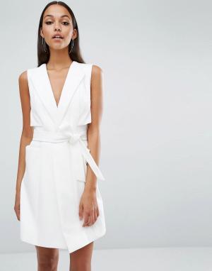 AQ Платье-жилет AQ/AQ Elina. Цвет: кремовый