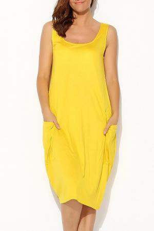 Платье Moda di Lorenza. Цвет: желтый