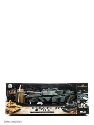 Танк р/у 1:28 с функцией стрельба из пушки зарядным устройством Tian Du. Цвет: зеленый, коричневый, черный