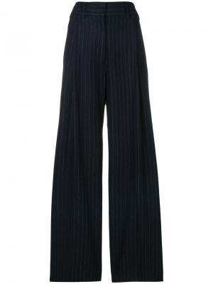 Широкие брюки в полоску Alberto Biani. Цвет: синий