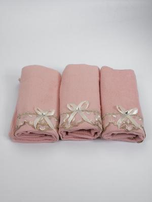 Набор полотенец Бантик La Pastel. Цвет: розовый, бежевый, молочный