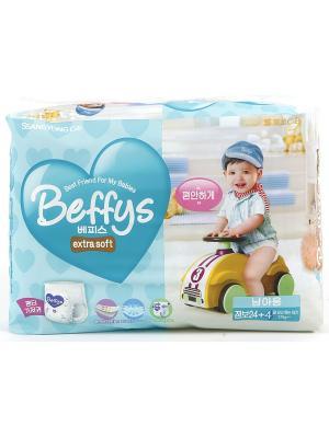 Подгузники-трусики Beffys extra soft для мальчиков размер XXL (более 17 кг.) 28 шт. Beffy's. Цвет: синий