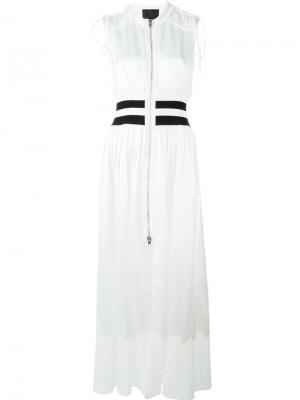 Платье с контрастными полосками Alexander Wang. Цвет: телесный