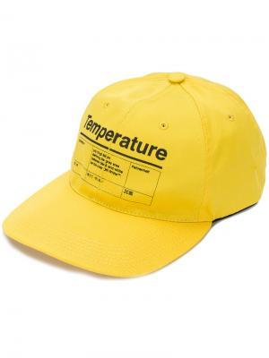 Бейсбольная кепка Temperature Off-White. Цвет: жёлтый и оранжевый