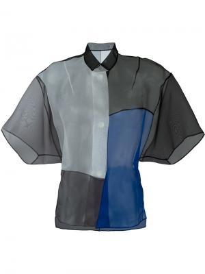 Блузка свободного кроя Demoo Parkchoonmoo. Цвет: синий