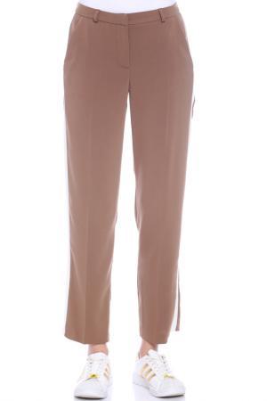 TROUSERS Moda di Chiara. Цвет: brown, white