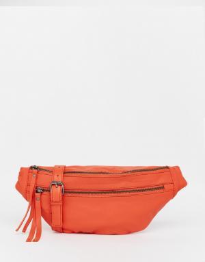 Becksondergaard Кожаная сумка-пояс. Цвет: kiss