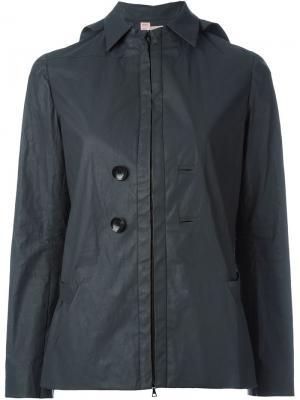 Куртка с капюшоном и вощеным покрытием And Re Walker. Цвет: чёрный