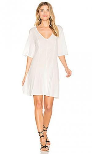 Мини платье billie LACAUSA. Цвет: белый