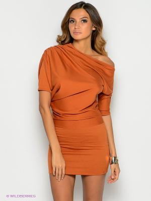 Платье SUGARLIFE. Цвет: терракотовый