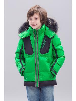 Куртка RadRada. Цвет: зеленый