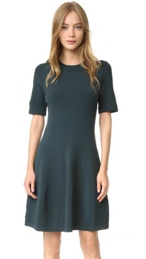 Трикотажное платье с короткими рукавами Grey Jason Wu. Цвет: глубокий лесной/морской
