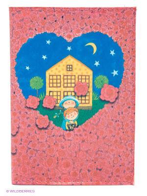 Обложка для паспорта Влюбленные в розах Mitya Veselkov. Цвет: розовый, синий