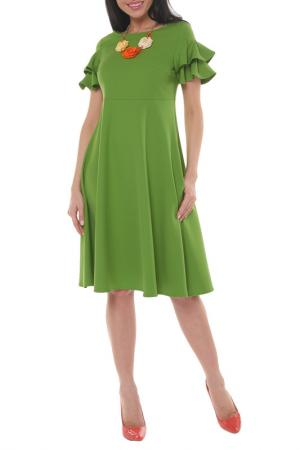 Платье Argent. Цвет: оливковый